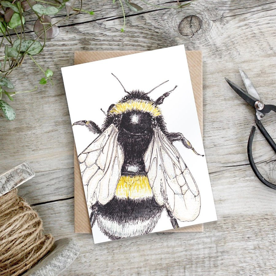 cadeauxwells - Bumblebee card - Toasted Crumpet - Greetings Card