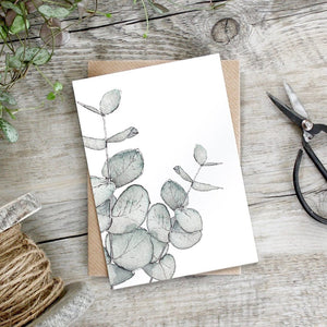 cadeauxwells - Eucalyptus card - Toasted Crumpet - Greetings Card