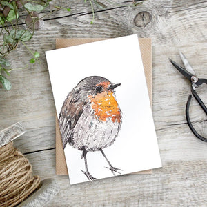 cadeauxwells - Robin card - Toasted Crumpet - Greetings Cards