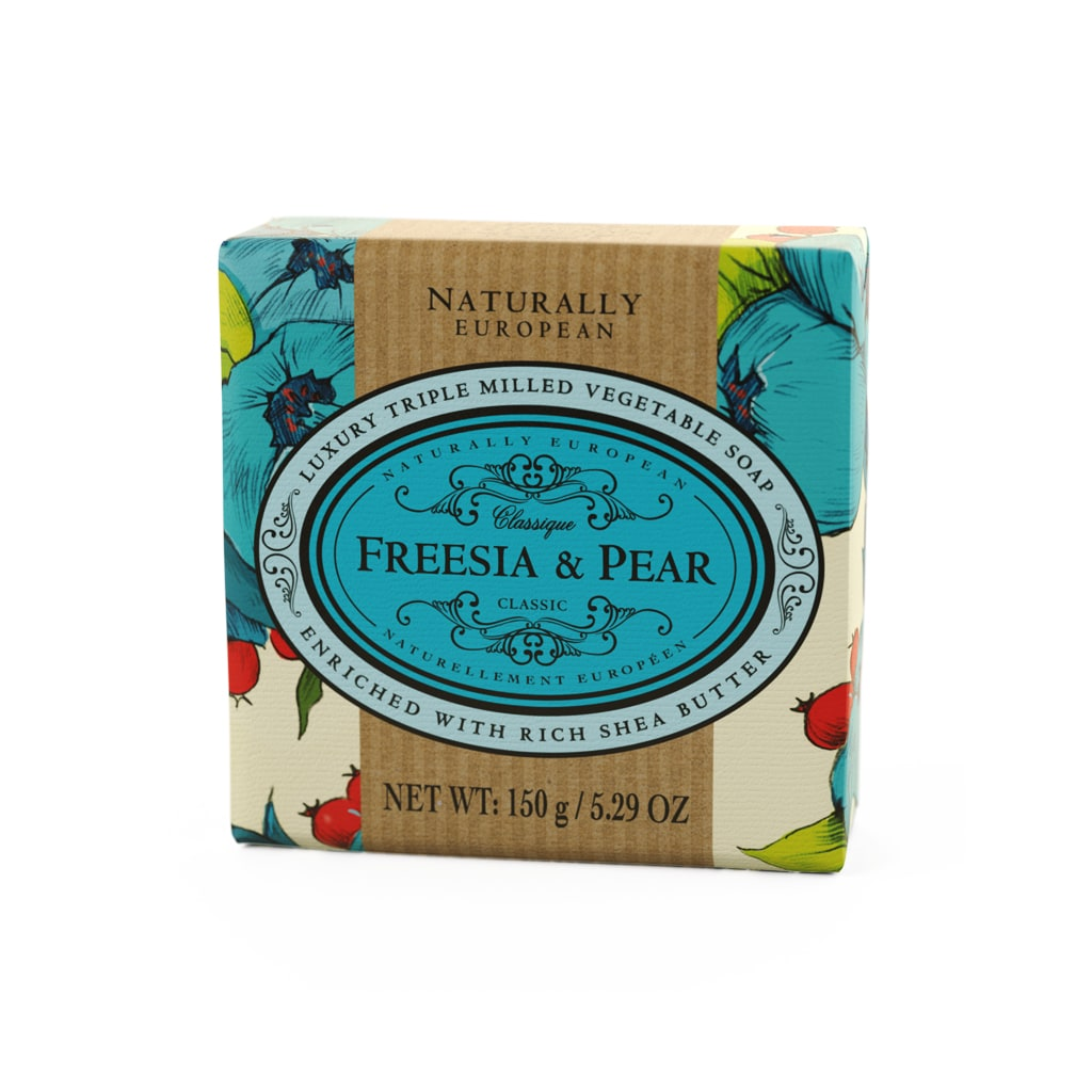 cadeauxwells - Naturally European Freesia & Pear Soap - The Somerset Toiletry Company - Perfumery