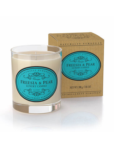 cadeauxwells - Naturally European Freesia & Pear Candle - The Somerset Toiletry Company - Perfumery