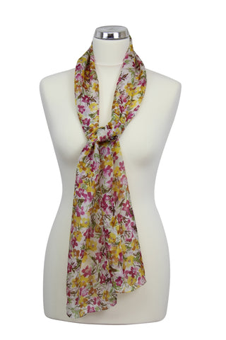 cadeauxwells - Emily Scarf in Cream - Peony - Accessories