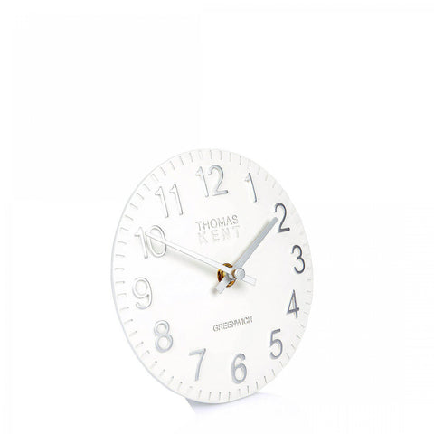 "cadeauxwells - 6"" Cotswold Mantel Clock Snowberry White - Art Marketing - Homewares"