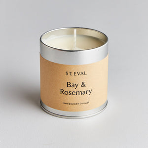 cadeauxwells - Bay and Rosemary Tin Candle - St Eval Candles - Candles
