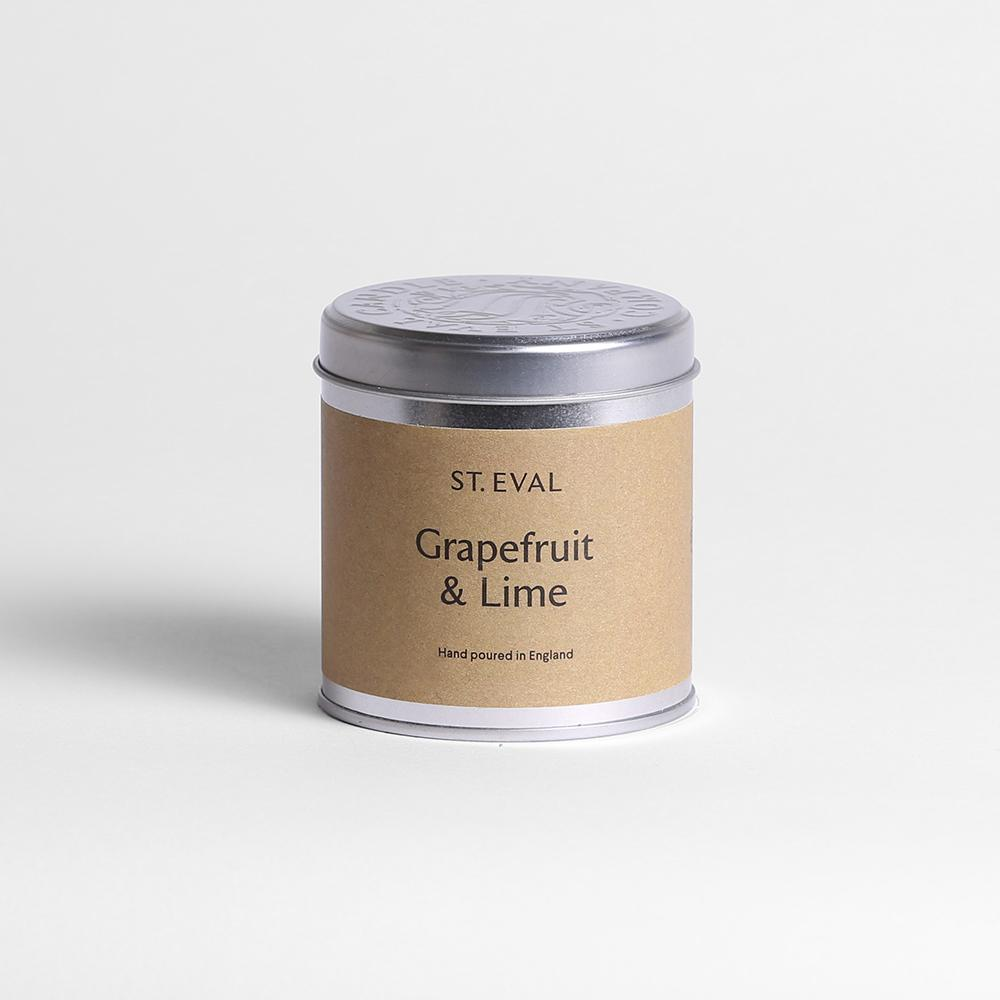 cadeauxwells - Grapefruit and Lime Tin Candle - St Eval Candles - Candles