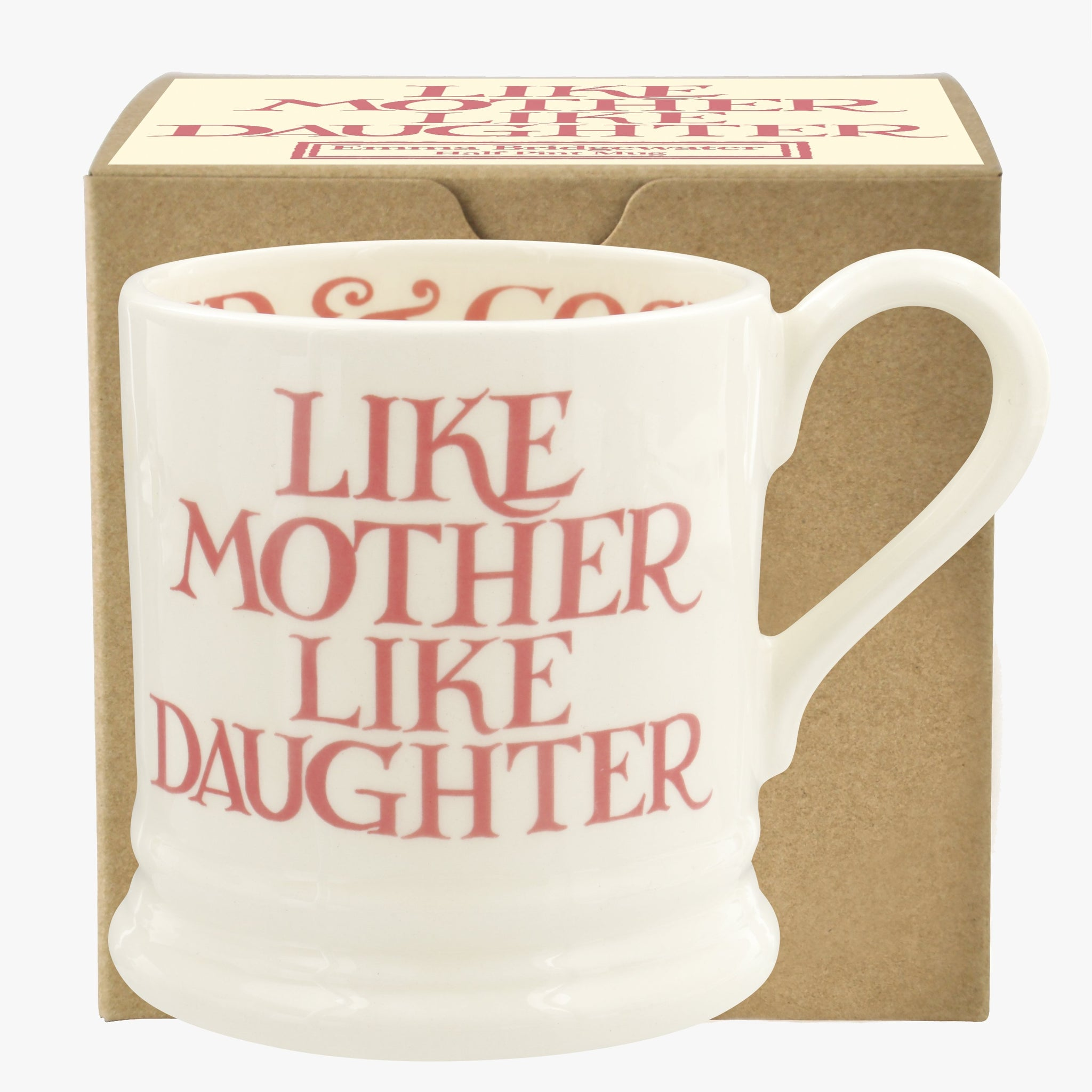 Pink Toast 'Like Mother Like Daughter' 1/2 Pint Mug Boxed