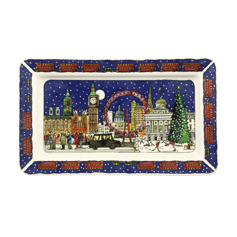 Cities of Dreams London at Christmas Medium Oblong Plate