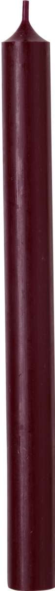 Dark Red Cylinder Candle - 25cm