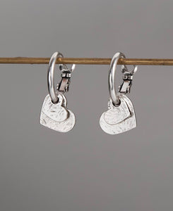 Double Heart Hoop Earrings by Danon