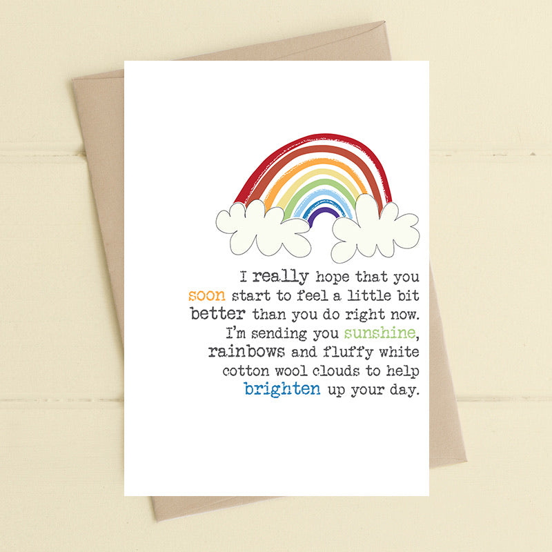 Feel better - rainbows and cotton wool clouds