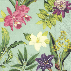 Lunch Napkins - Flowers of Paradise