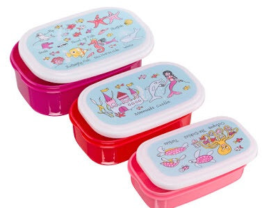 cadeauxwells - Set of 3 Snack Boxes - Under the Sea - Tyrrell Katz - Childrens