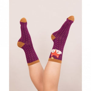 Ankle Socks - Fox Damson