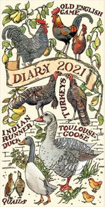 Emma Bridgewater Farmyard Birds Slim Diary