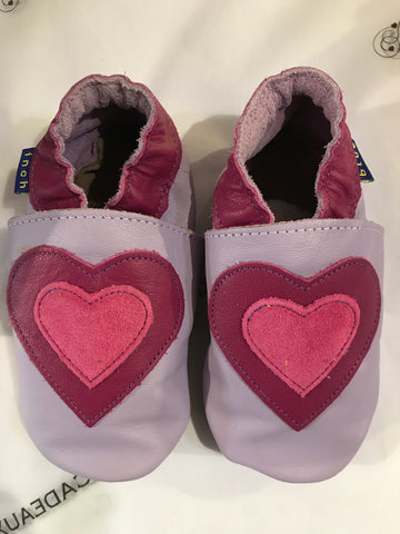 Inch Blue Baby Shoes - Loveheart Lilac/Grape