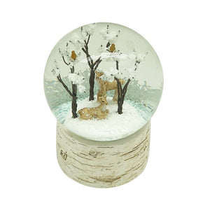 Deer & tree snow globe