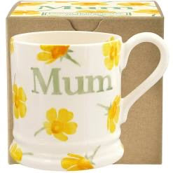 Buttercup Scattered 'Mum' 1/2 Pint Mug - Boxed