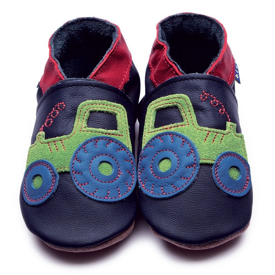 Inch Blue Baby Shoes - Tractor Navy