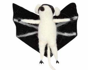 cadeauxwells - Wool Mix Mouse Bat Decoration - Gisela Graham - Seasonal
