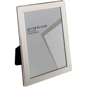 Silver Plated Flat Edge Photo Frame - 6 x 8
