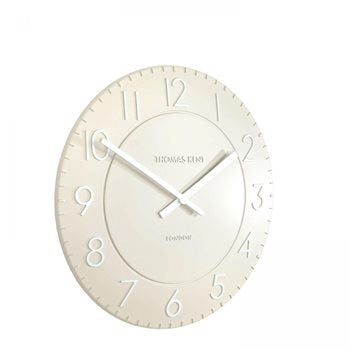 "12"" Townhouse Wall Clock - Putty"