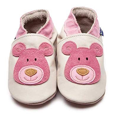 Inch Blue Baby Shoes - Bear Cream/Pink