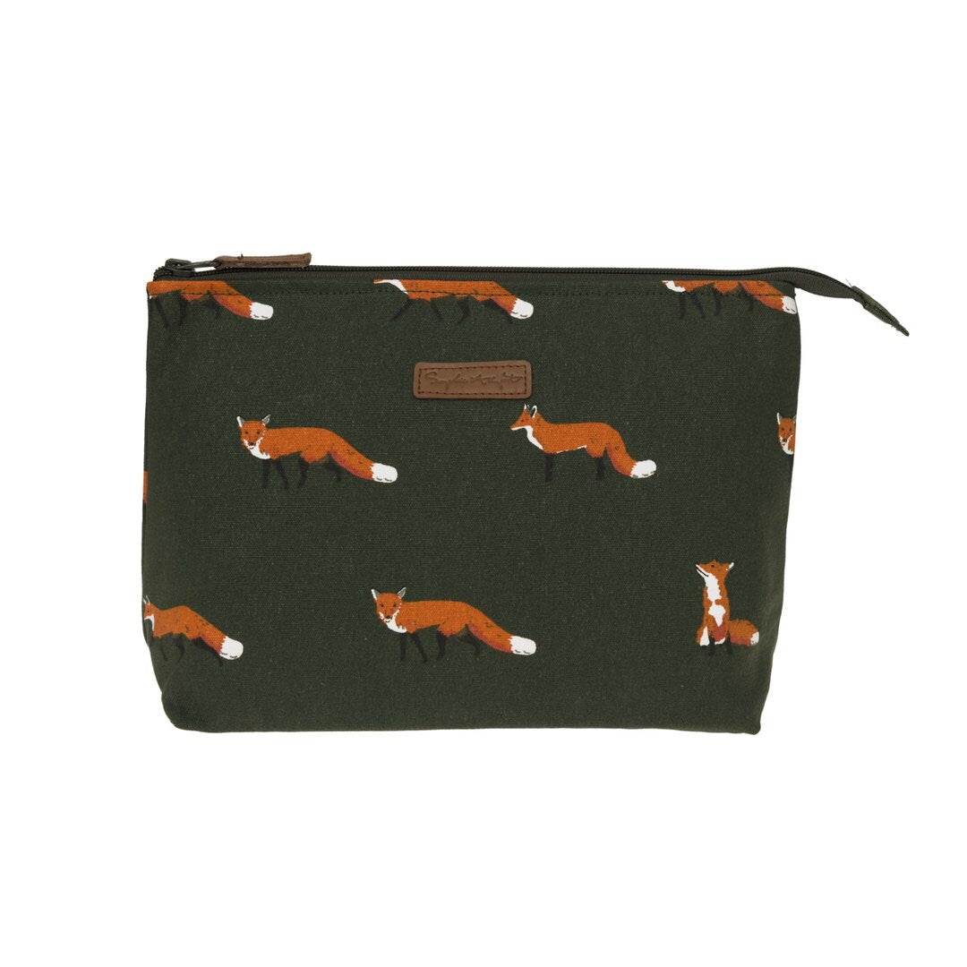 Canvas Wash Bag - Large - Foxes