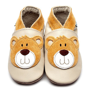 Inch Blue Baby Shoes - Teddy Cream
