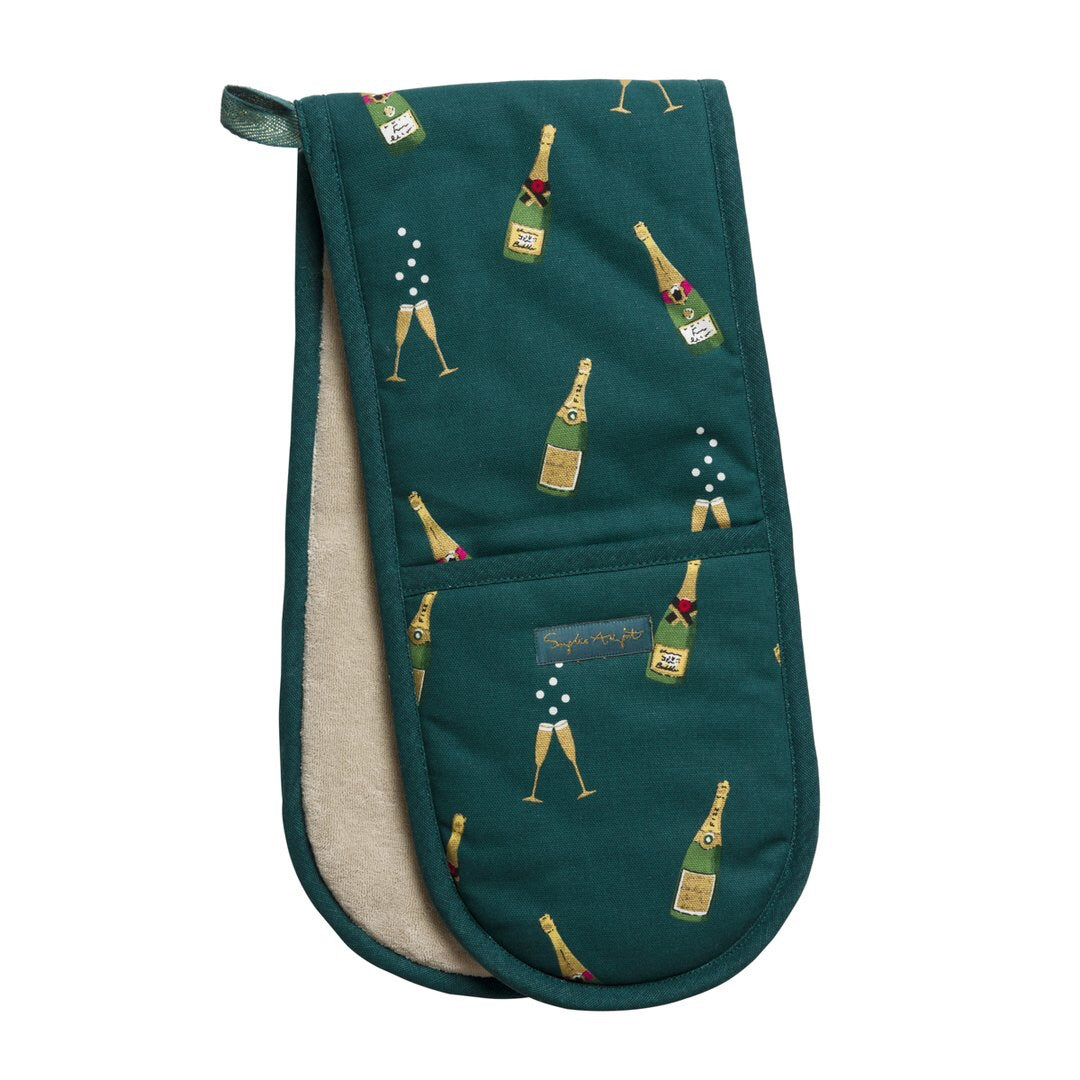 Double Oven Glove - Bubbles & Fizz