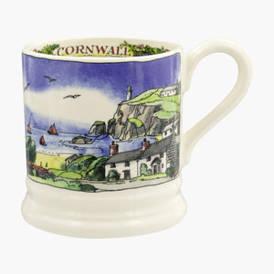 Landscape of Dreams Cornish Beaches 1/2 Pink Mug