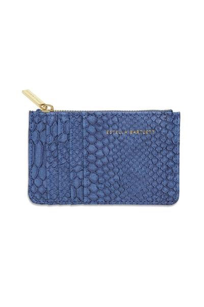 Card Purse - Navy Snake