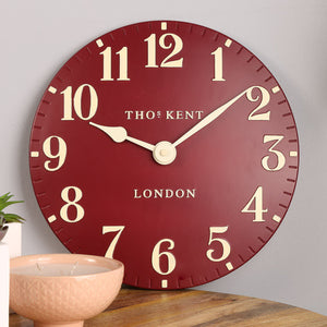 "12"" Arabic Wall Clock - Red"