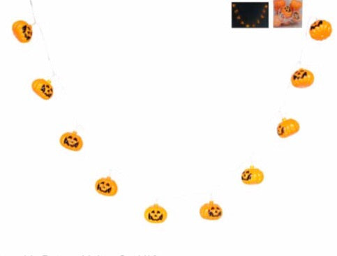 cadeauxwells - Set of ten Pumpkin Battery Lights - Gisela Graham - Seasonal