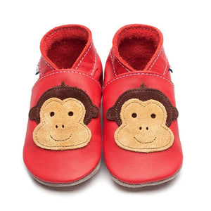 Inch Blue Baby Shoes - Cheeky Monkey - Red