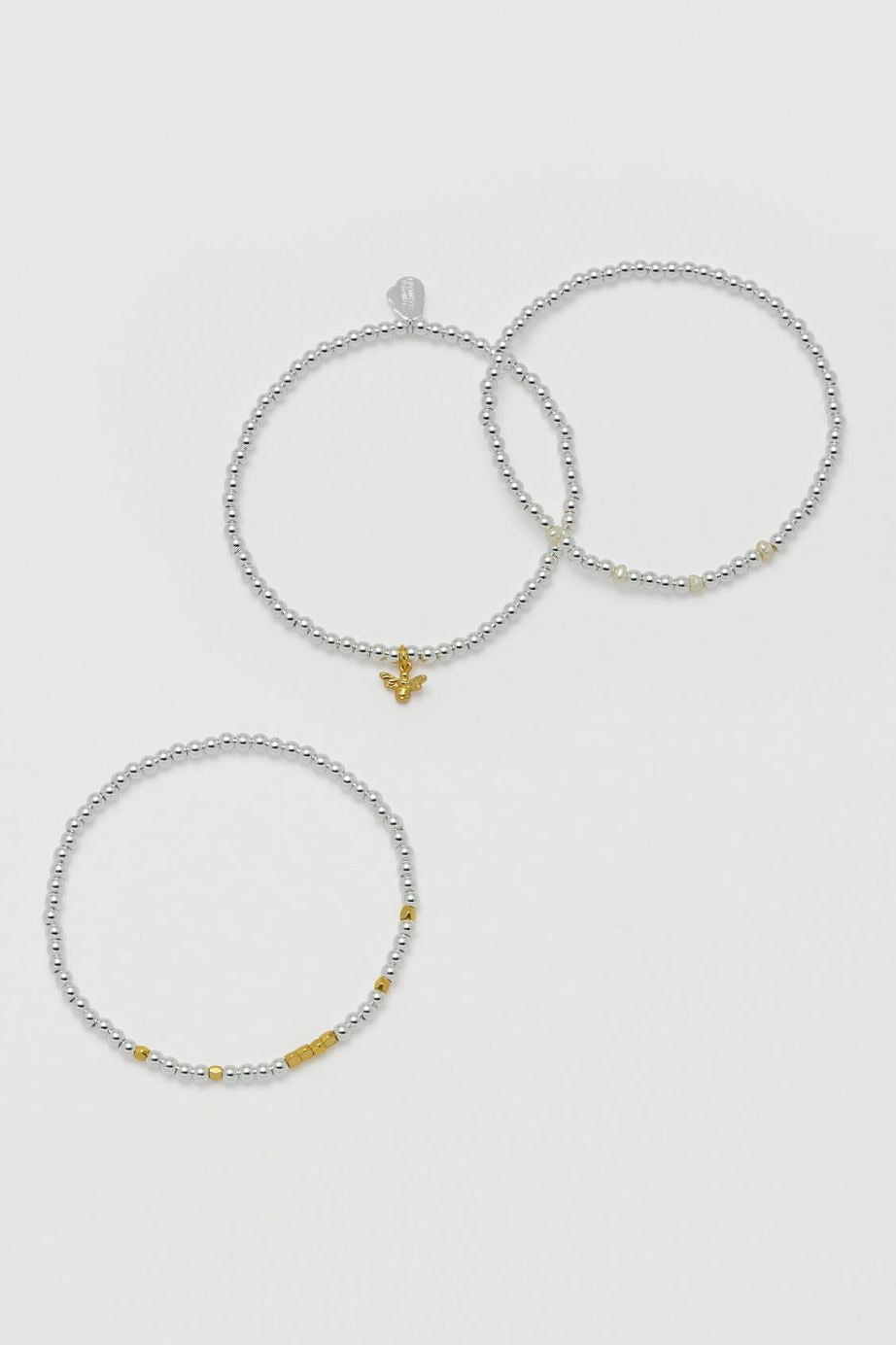 Bee Bracelet Trio Gift Set - Silver & Gold Plated