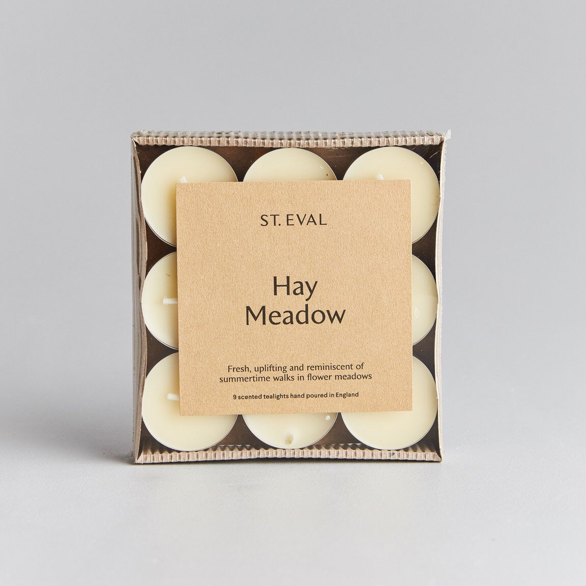 cadeauxwells - Scented Tealight x 9 - Hay Meadow - St Eval Candles -
