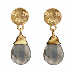 'Kate' Large Earrings - Labradorite