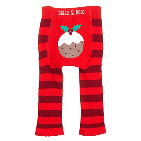 cadeauxwells - Leggings - Age 6-12 months Christmas Pudding - Arora - Children's Clothes and Shoes