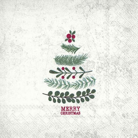 Lunch Napkins – Natural Christmas Tree