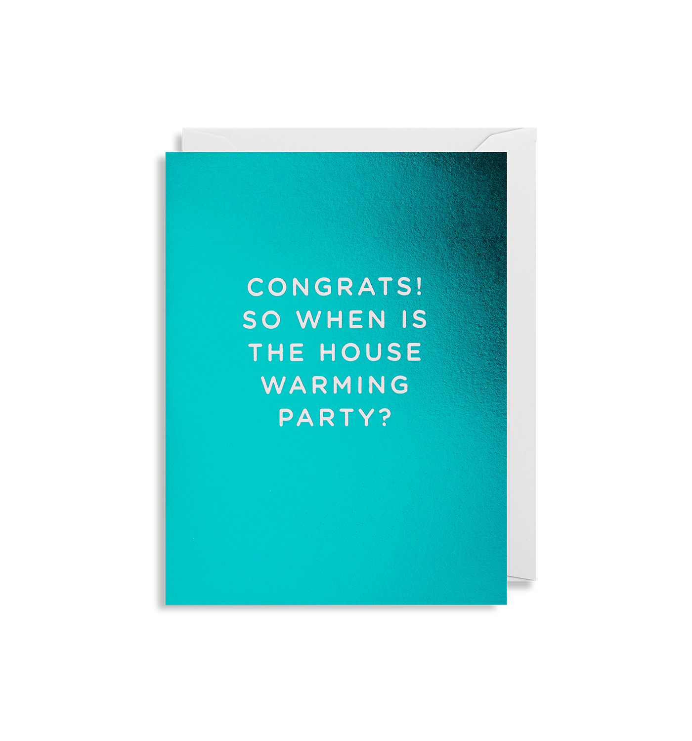 Congrats! So when is the house warming party?