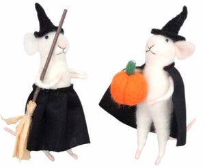 cadeauxwells - Mixed Wool Halloween Mouse Decoration - Gisela Graham - Seasonal