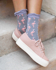 Ankle Socks - Flamingo Slate