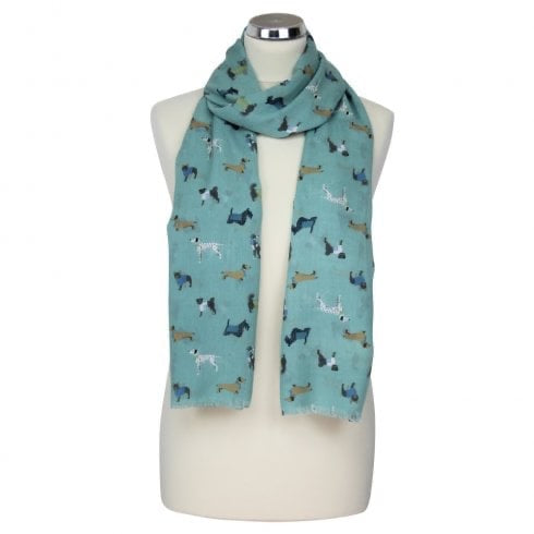 Scarf decorated with dogs
