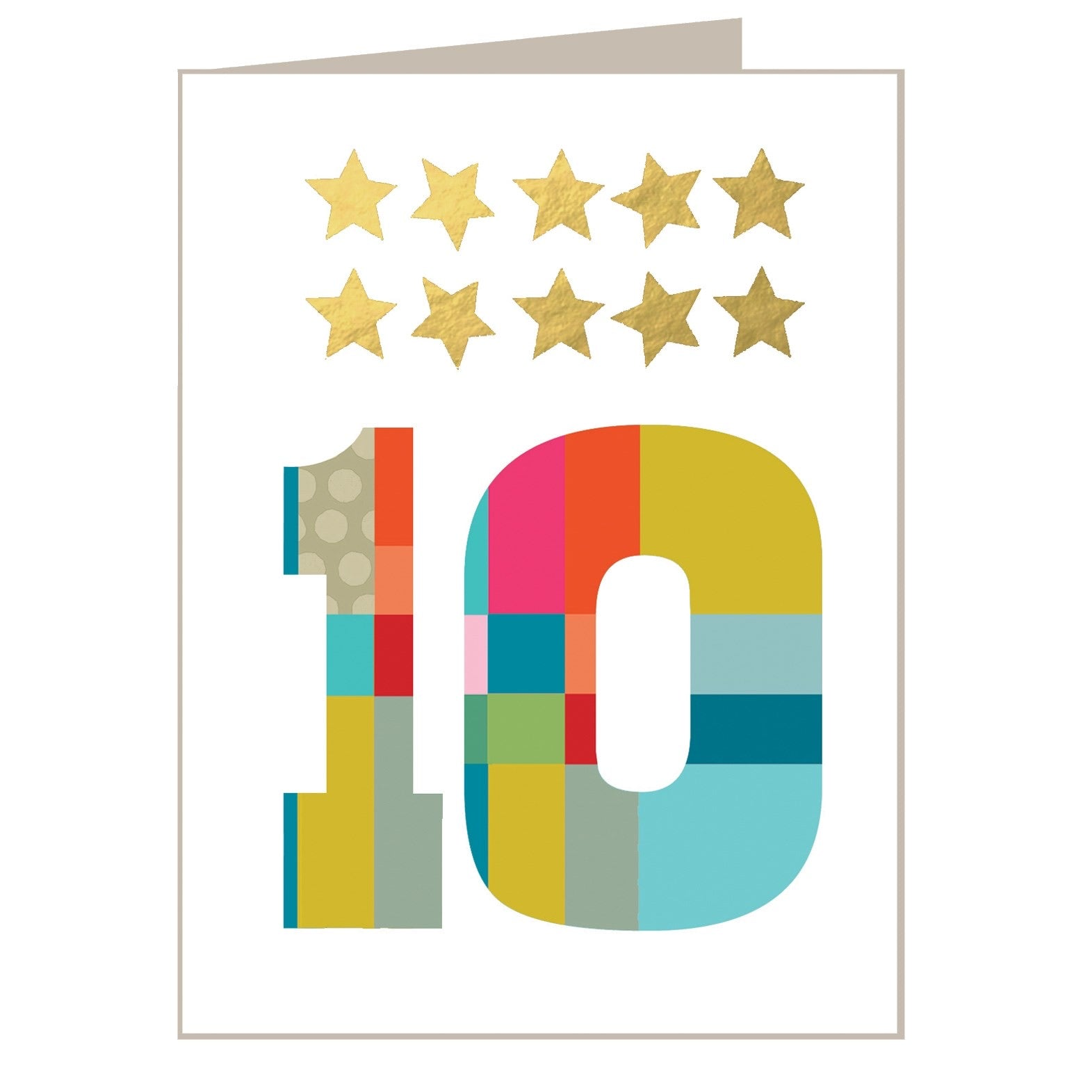 10 - Mini Gold Star Card