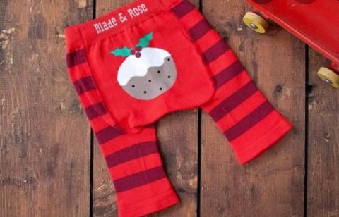 cadeauxwells - Leggings - Age 0-6 months Christmas Pudding - Arora - Children's Clothes and Shoes