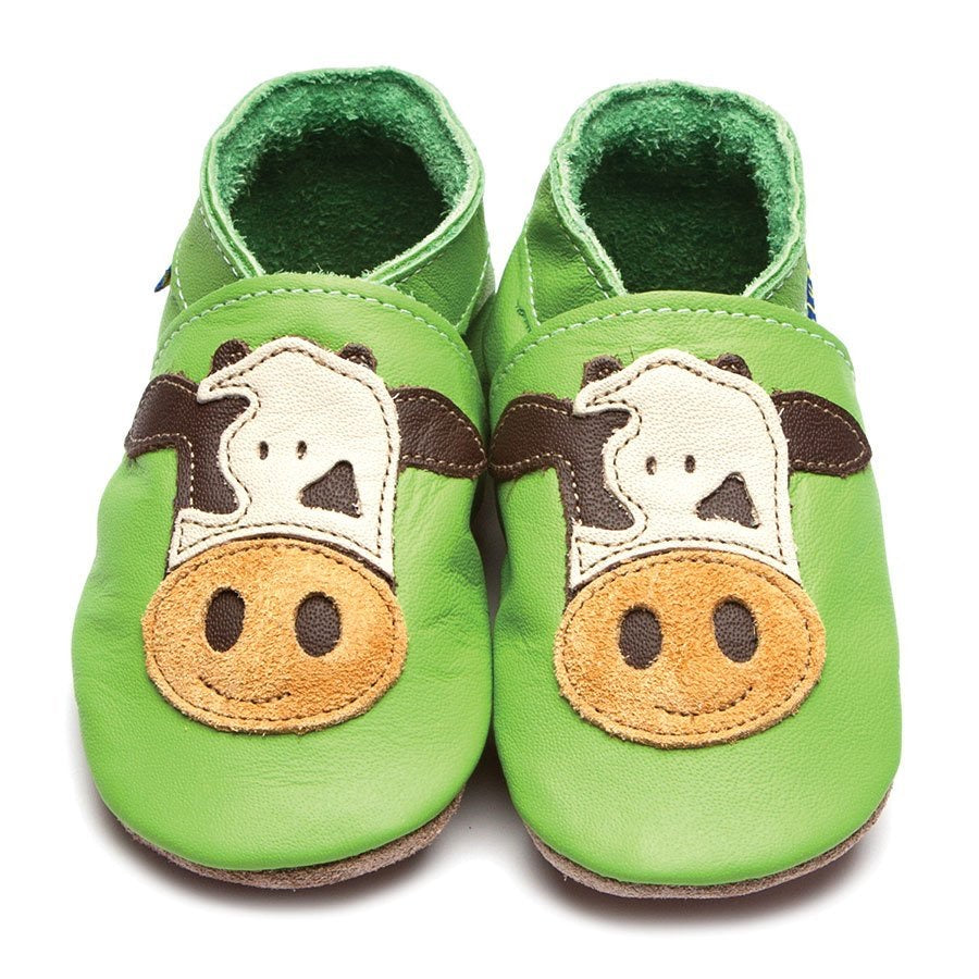 Inch Blue Baby Shoes - Cow green