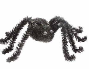 cadeauxwells - Black Tinsel Spider Ornament - Gisela Graham - Seasonal