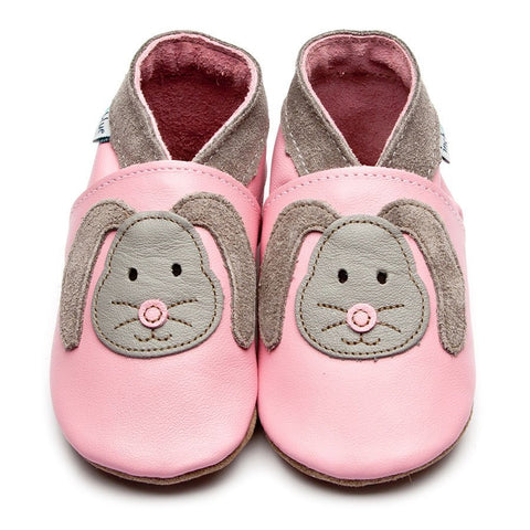 Inch Blue Baby Shoes - Rag Bunny Rose Pink