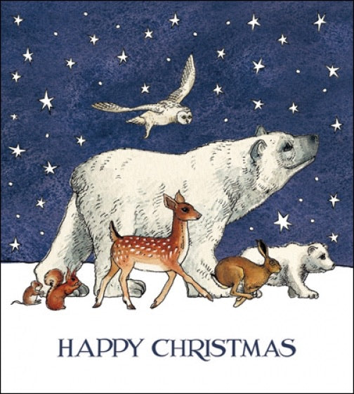 Pack of 5 Emma Bridgewater Christmas Cards - Winter Animals