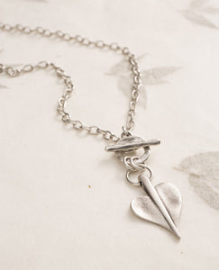 Leaf Of Love T-bar Fine Necklace by Danon